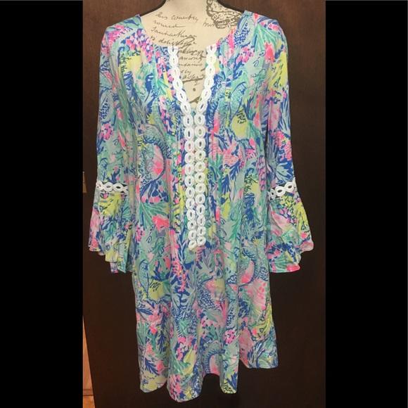 e6b3285f1db Lilly Pulitzer Dresses   Mermaids Cove Hollie Tunic Dress Xl   Poshmark